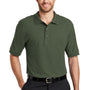 Port Authority Mens Silk Touch Wrinkle Resistant Short Sleeve Polo Shirt - Clover Green