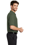 Port Authority K500 Mens Silk Touch Wrinkle Resistant Short Sleeve Polo Shirt Clover Green Side