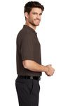 Port Authority K500 Mens Silk Touch Wrinkle Resistant Short Sleeve Polo Shirt Coffee Brown Side