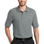 Port Authority Mens Silk Touch Wrinkle Resistant Short Sleeve Polo Shirt - Cool Grey