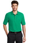 Port Authority K500 Mens Silk Touch Wrinkle Resistant Short Sleeve Polo Shirt Court Green Front