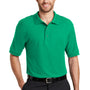 Port Authority Mens Silk Touch Wrinkle Resistant Short Sleeve Polo Shirt - Court Green