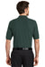Port Authority K500 Mens Silk Touch Wrinkle Resistant Short Sleeve Polo Shirt Dark Green Back