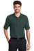 Port Authority K500 Mens Silk Touch Wrinkle Resistant Short Sleeve Polo Shirt Dark Green Front
