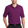 Port Authority Mens Silk Touch Wrinkle Resistant Short Sleeve Polo Shirt - Deep Berry Purple