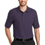 Port Authority Mens Silk Touch Wrinkle Resistant Short Sleeve Polo Shirt - Eggplant Purple