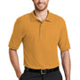 Port Authority Mens Silk Touch Wrinkle Resistant Short Sleeve Polo Shirt - Gold