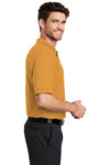 Port Authority K500 Mens Silk Touch Wrinkle Resistant Short Sleeve Polo Shirt Gold Side