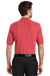 Port Authority K500 Mens Silk Touch Wrinkle Resistant Short Sleeve Polo Shirt Hibiscus Pink Back