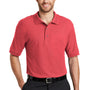 Port Authority Mens Silk Touch Wrinkle Resistant Short Sleeve Polo Shirt - Hibiscus Pink