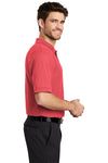 Port Authority K500 Mens Silk Touch Wrinkle Resistant Short Sleeve Polo Shirt Hibiscus Pink Side