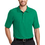 Port Authority Mens Silk Touch Wrinkle Resistant Short Sleeve Polo Shirt - Kelly Green