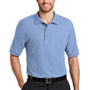 Port Authority Mens Silk Touch Wrinkle Resistant Short Sleeve Polo Shirt - Light Blue