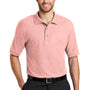 Port Authority Mens Silk Touch Wrinkle Resistant Short Sleeve Polo Shirt - Light Pink