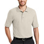 Port Authority Mens Silk Touch Wrinkle Resistant Short Sleeve Polo Shirt - Light Stone - Closeout