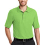 Port Authority Mens Silk Touch Wrinkle Resistant Short Sleeve Polo Shirt - Lime Green