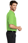 Port Authority K500 Mens Silk Touch Wrinkle Resistant Short Sleeve Polo Shirt Lime Green Side