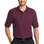 Port Authority Mens Silk Touch Wrinkle Resistant Short Sleeve Polo Shirt - Maroon