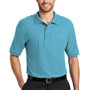 Port Authority Mens Silk Touch Wrinkle Resistant Short Sleeve Polo Shirt - Maui Blue
