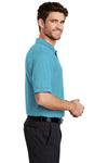 Port Authority K500 Mens Silk Touch Wrinkle Resistant Short Sleeve Polo Shirt Maui Blue Side