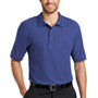 Port Authority Mens Silk Touch Wrinkle Resistant Short Sleeve Polo Shirt - Mediterranean Blue