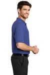 Port Authority K500 Mens Silk Touch Wrinkle Resistant Short Sleeve Polo Shirt Mediterranean Blue Side