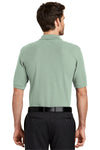 Port Authority K500 Mens Silk Touch Wrinkle Resistant Short Sleeve Polo Shirt Mint Green Back