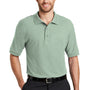 Port Authority Mens Silk Touch Wrinkle Resistant Short Sleeve Polo Shirt - Mint Green