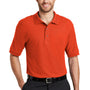 Port Authority Mens Silk Touch Wrinkle Resistant Short Sleeve Polo Shirt - Orange