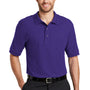 Port Authority Mens Silk Touch Wrinkle Resistant Short Sleeve Polo Shirt - Purple