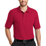 Port Authority Mens Silk Touch Wrinkle Resistant Short Sleeve Polo Shirt - Red