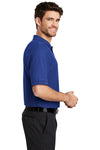 Port Authority K500 Mens Silk Touch Wrinkle Resistant Short Sleeve Polo Shirt Royal Blue Side