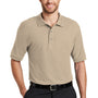 Port Authority Mens Silk Touch Wrinkle Resistant Short Sleeve Polo Shirt - Stone