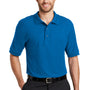 Port Authority Mens Silk Touch Wrinkle Resistant Short Sleeve Polo Shirt - Strong Blue