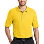 Port Authority Mens Silk Touch Wrinkle Resistant Short Sleeve Polo Shirt - Sunflower Yellow