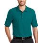 Port Authority Mens Silk Touch Wrinkle Resistant Short Sleeve Polo Shirt - Teal Green