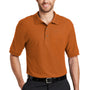 Port Authority Mens Silk Touch Wrinkle Resistant Short Sleeve Polo Shirt - Texas Orange