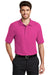 Port Authority K500 Mens Silk Touch Wrinkle Resistant Short Sleeve Polo Shirt Tropical Pink Front