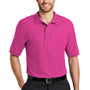 Port Authority Mens Silk Touch Wrinkle Resistant Short Sleeve Polo Shirt - Tropical Pink