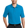 Port Authority Mens Silk Touch Wrinkle Resistant Short Sleeve Polo Shirt - Turquoise Blue