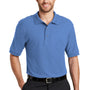 Port Authority Mens Silk Touch Wrinkle Resistant Short Sleeve Polo Shirt - Ultramarine Blue