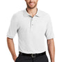 Port Authority Mens Silk Touch Wrinkle Resistant Short Sleeve Polo Shirt - White