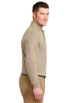 Port Authority K500LS Mens Silk Touch Wrinkle Resistant Long Sleeve Polo Shirt Stone Brown Side