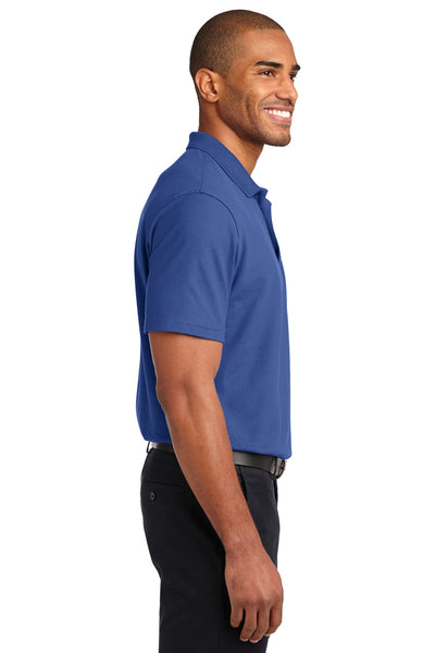 Port Authority K510 Mens Moisture Wicking Short Sleeve Polo Shirt Royal Blue Side