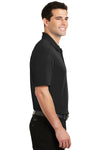 Port Authority K5200 Mens Silk Touch Performance Moisture Wicking Short Sleeve Polo Shirt Black Side