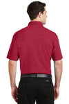 Port Authority K5200 Mens Silk Touch Performance Moisture Wicking Short Sleeve Polo Shirt Red Back