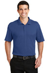 Port Authority K5200 Mens Silk Touch Performance Moisture Wicking Short Sleeve Polo Shirt Royal Blue Front