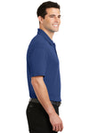 Port Authority K5200 Mens Silk Touch Performance Moisture Wicking Short Sleeve Polo Shirt Royal Blue Side