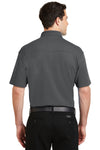 Port Authority K5200 Mens Silk Touch Performance Moisture Wicking Short Sleeve Polo Shirt Sterling Grey Back