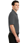 Port Authority K5200 Mens Silk Touch Performance Moisture Wicking Short Sleeve Polo Shirt Sterling Grey Side